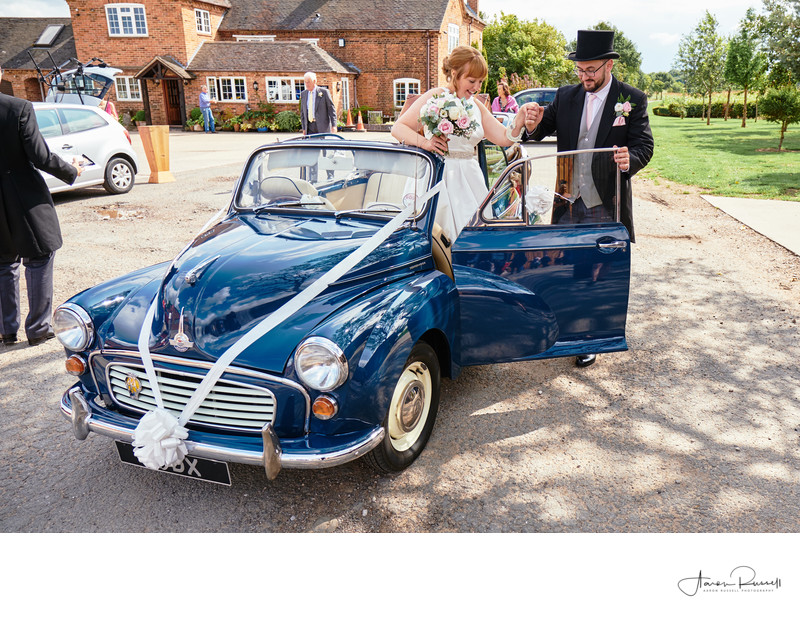 Wedding Car Leicestershire Wedding Photographer