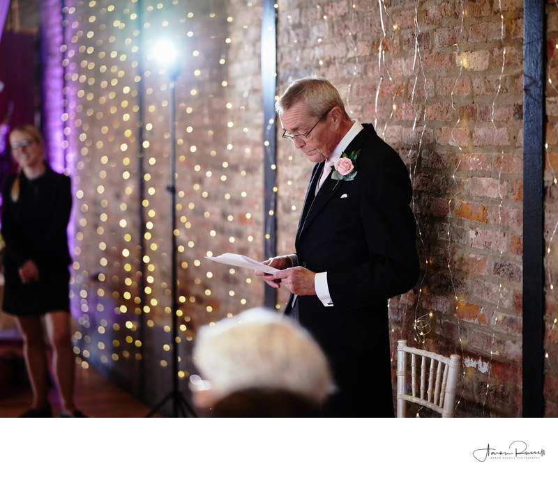 Father of the Bride Speech Photos Derbyshire
