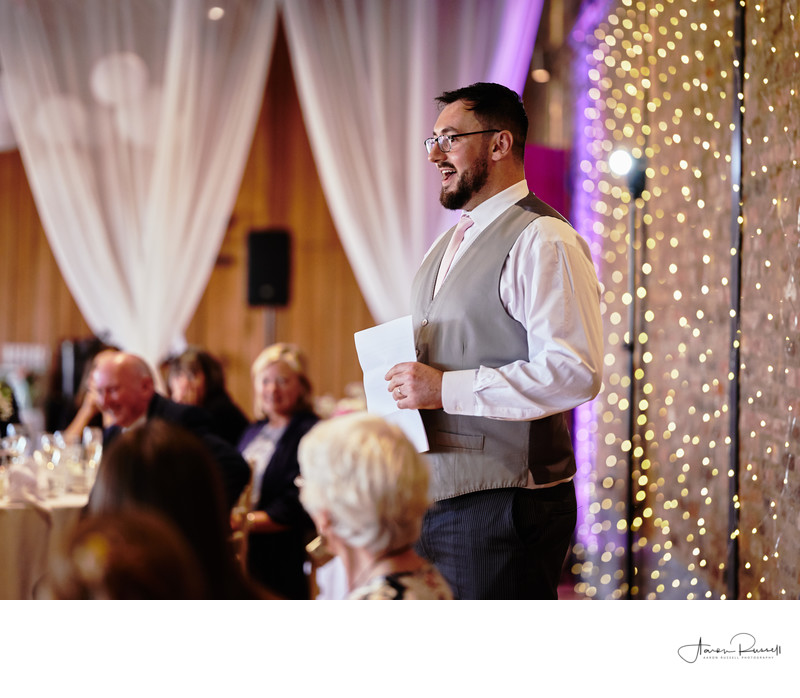 Best Mans Speech Derbyshire Wedding Photography