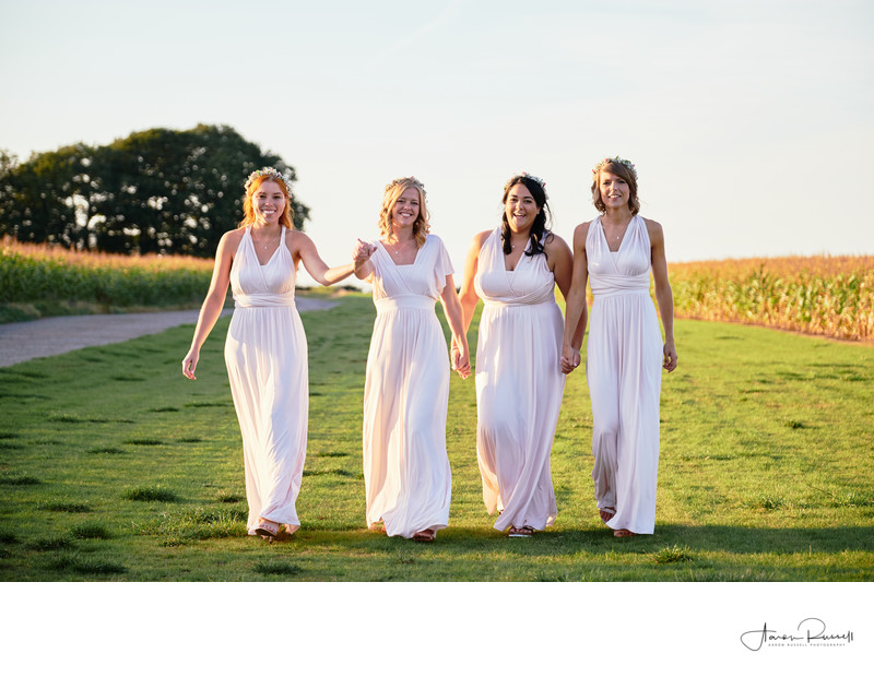 Bridesmaids Wedding Photography Derbyshire