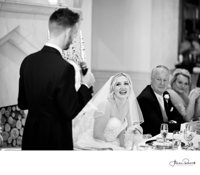 Grooms Speech Wedding Photographer Derbyshire
