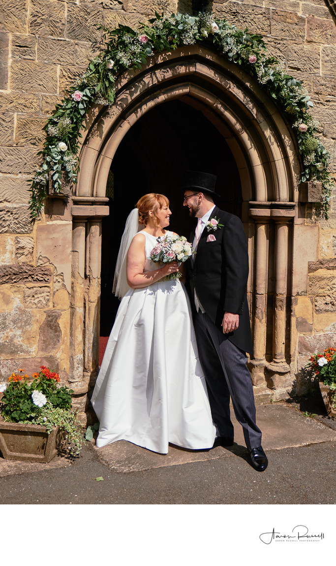 Derbyshire Wedding Photographers Newlyweds at Church
