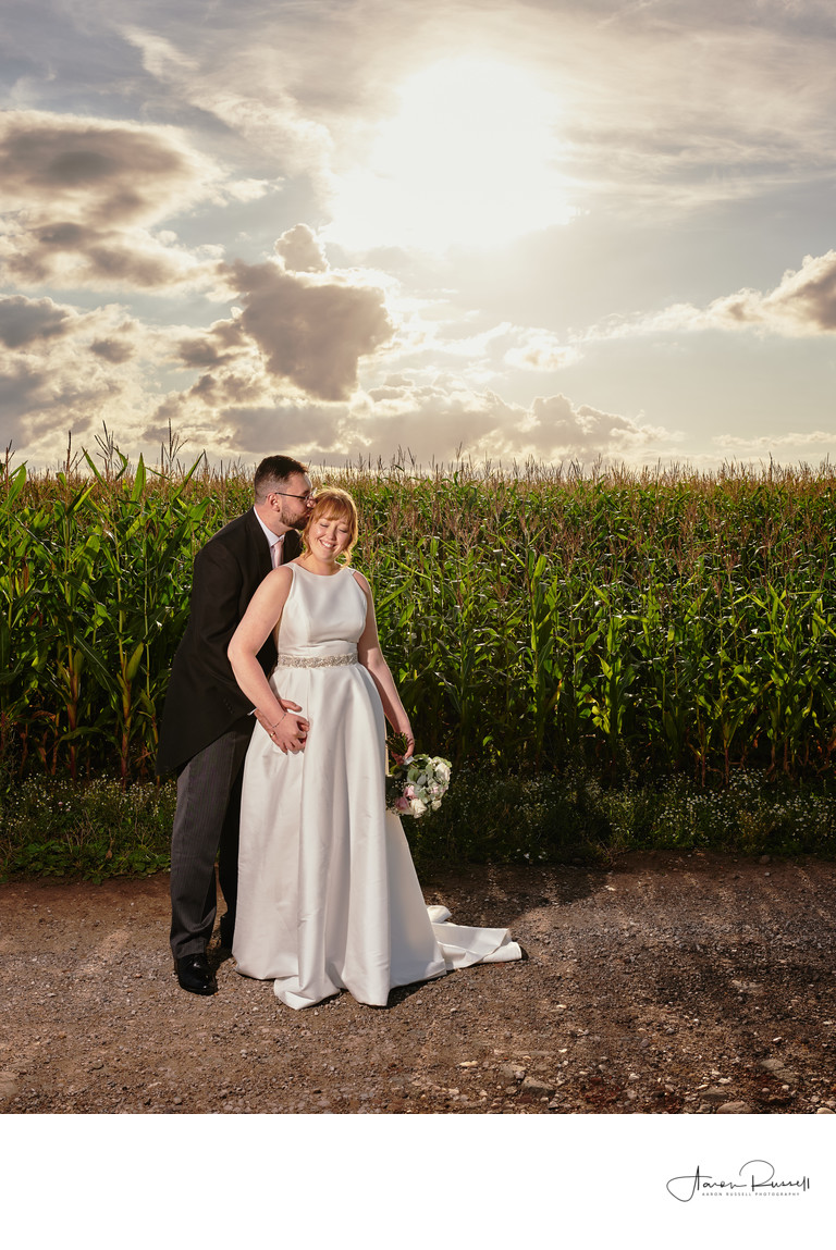 Sunset Wedding Photography Derbyshire