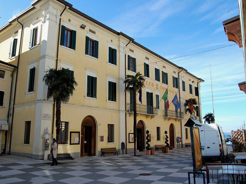 The exterior of Lazise Town Hall.