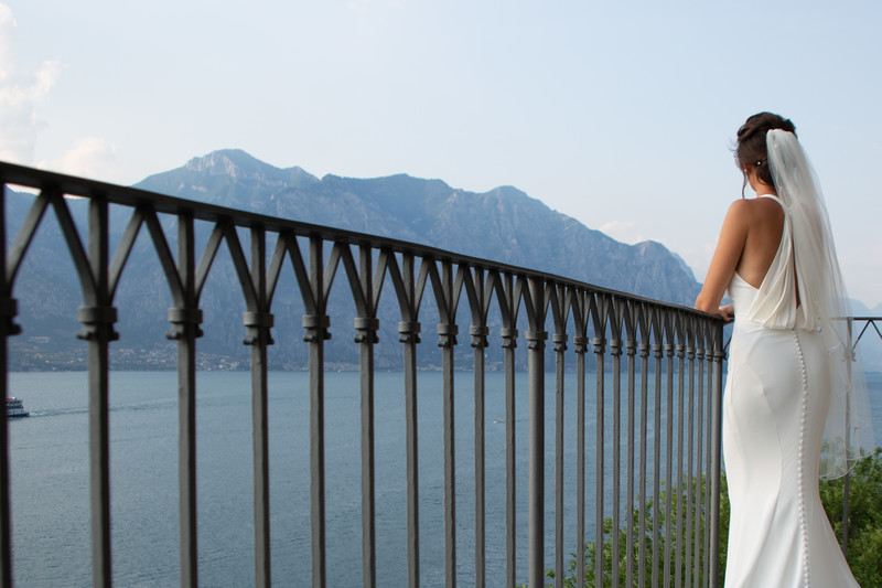 Kim & Gareth Malcesine, Lake Garda. Castle weddings