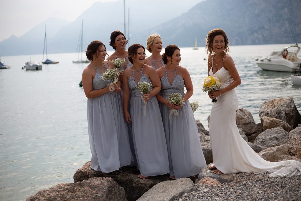 Lakeside wedding photos on Garda