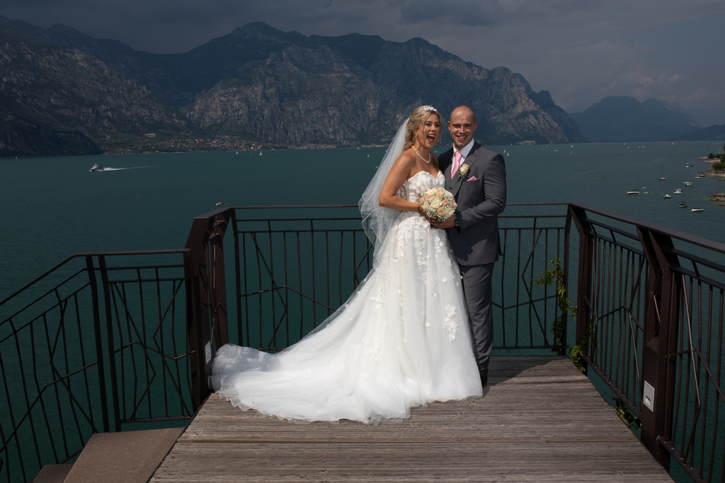Blue skies and blue waters on Lake Garda