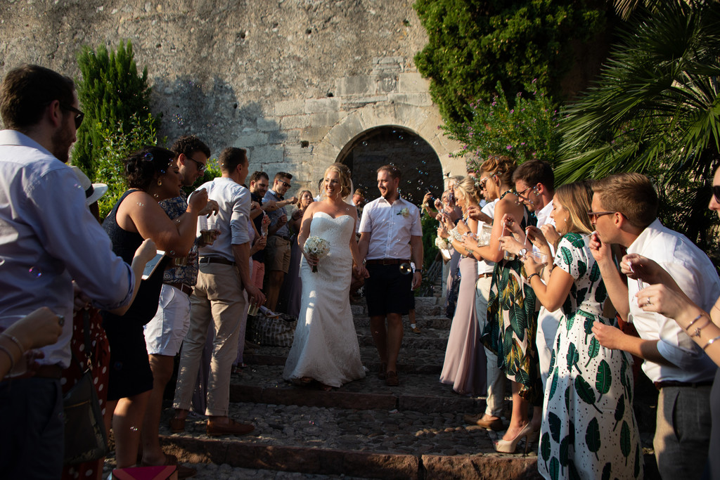 Luke & Lizzie Wedding abroad in Malcesine castle