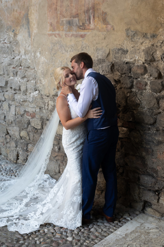 Sam and Steve, in love in Malcesine Castle