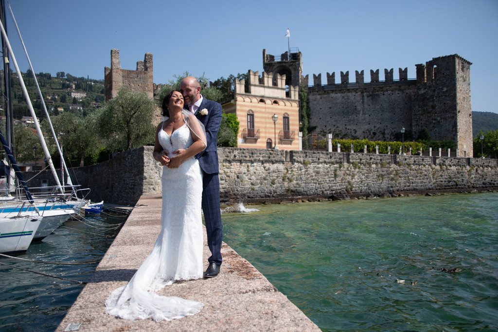 Debra and Mark in Torri in-front of the Castle