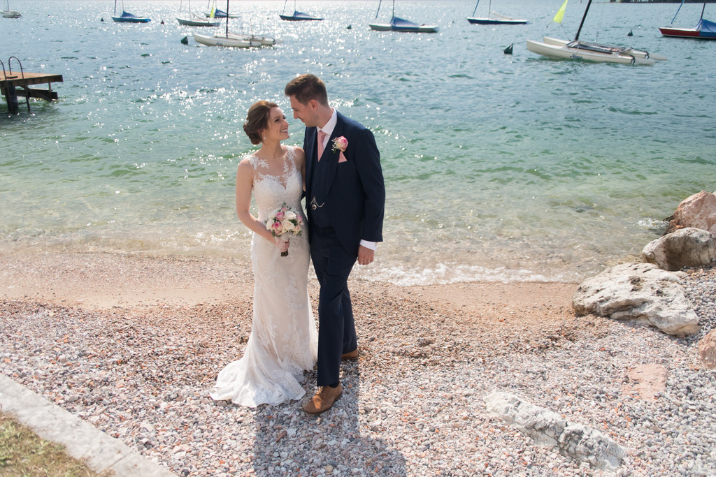 Emma and Chris by the water