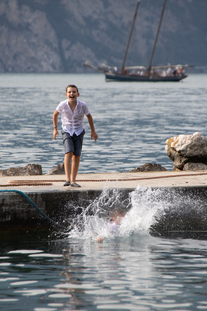 Kids just want to have fun on Lake Garda
