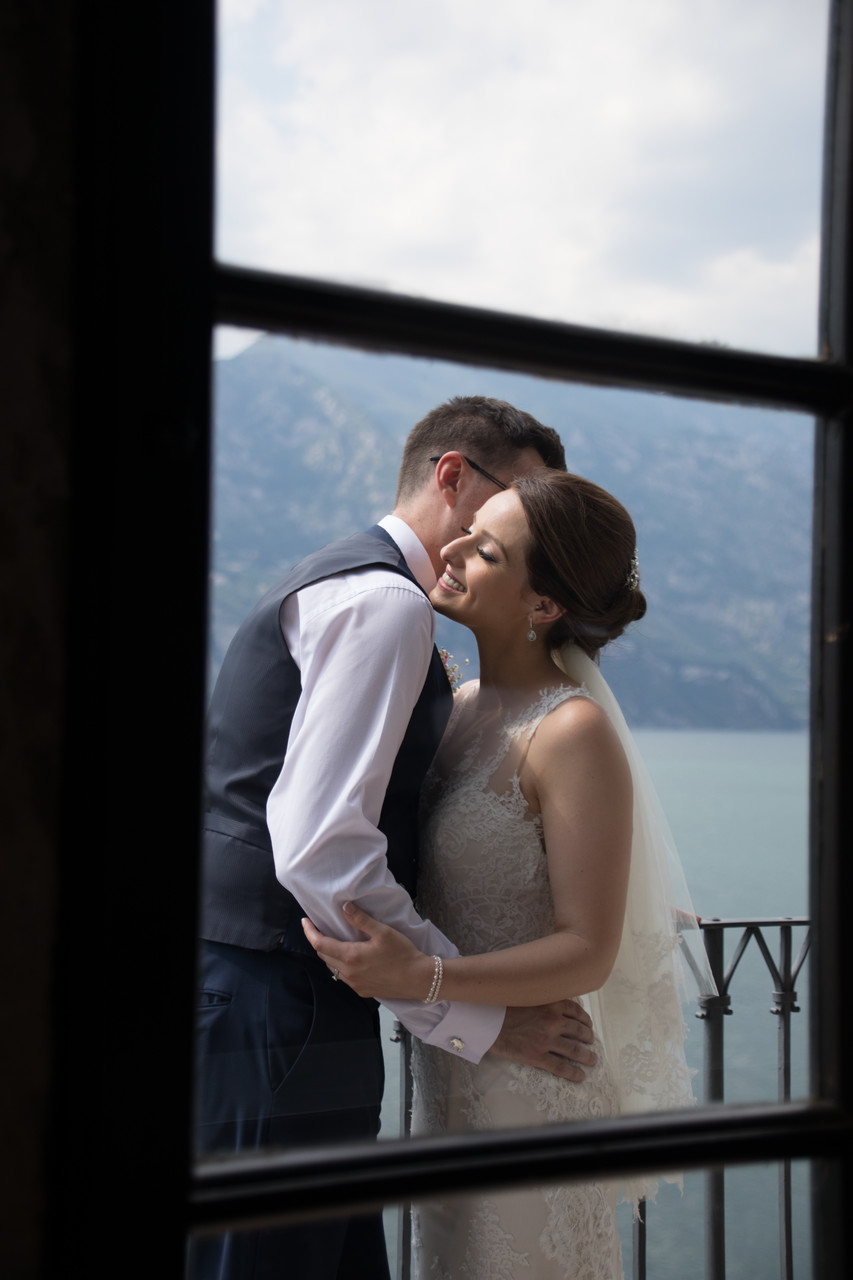 Emma and Chris, taken through the window in malcesine