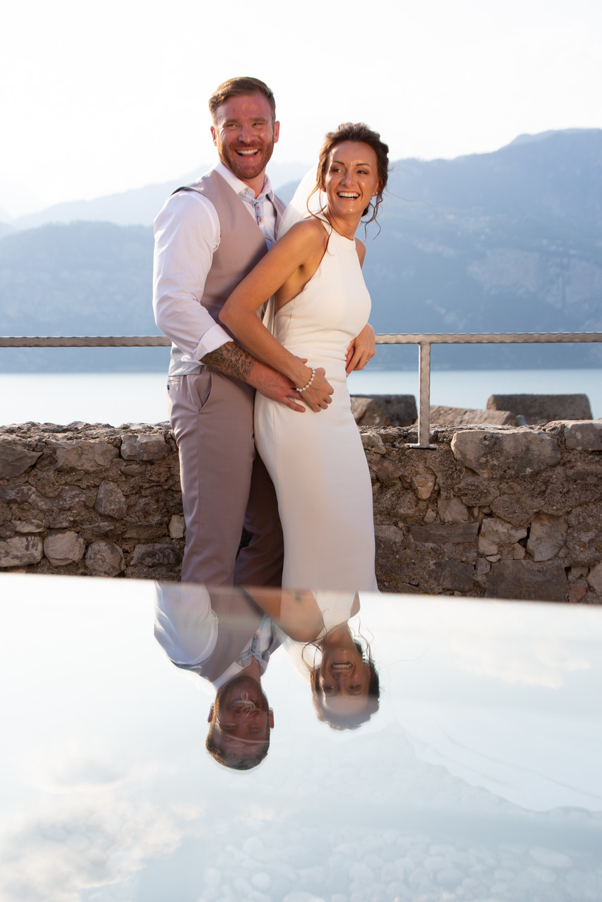 Kim & Gareth wedding Malcesine Castle, Fun photos Italy