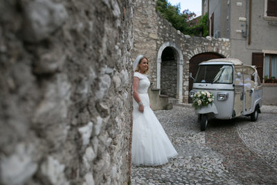 Sentimental weddings on Lake Garda, Italy, Malcesine.