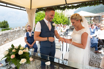 Captivating, romantic castle weddings on Lake Garda.