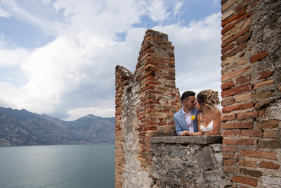 Wedding in the turrets in Malcesine Castle