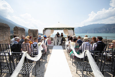 Stunning terrace for a wedding ceremony