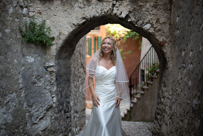 Chrissie in Malcesine Streets