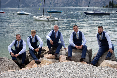 Dave and his crew on Val di Sogno Beach