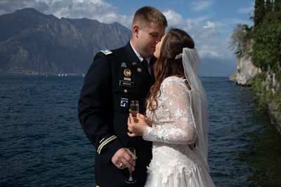 American Wedding by the water in Malcesine