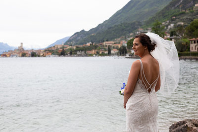 Easy going weddings  in Malcesine Castle, Italy