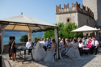 Beautiful views from the ceremony in Malcesine at the Castle