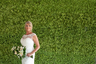 Caroline by the moss in the Hotel Casa Barca, Malcesine