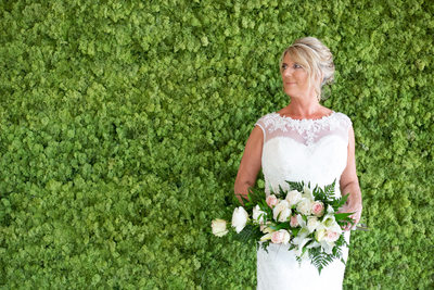 Caroline & Gus, the moss wall
