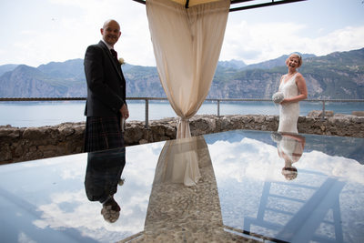 Reflections of love in Malcesine