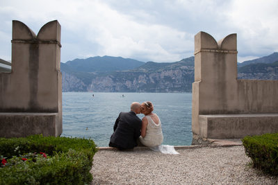 Romantic Wedding at the Captain's palace in Malcesine