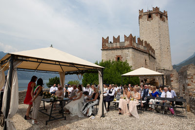 Kate & Chris the wedding venue  - Malcesine Castle.