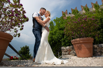 Classy Weddings in Malcesine Castle Terrace, Lake Garda
