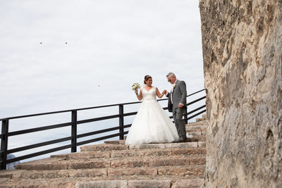 Big Dress on Lake Garda, Malcesine Castle Steps