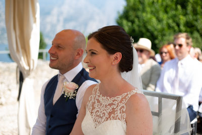 Penny and James Malcesine Castle Wedding, Italy