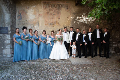 Roxanne and Anthony Bridal Party in Italy.