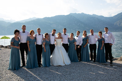 Roxanne and Anthony Bridal Party in Italy Lake Garda4