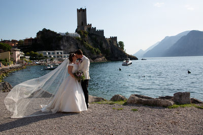 Roxanne and Anthony by Lake Garda, Italy