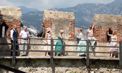 Candid moments in malcesine Castle