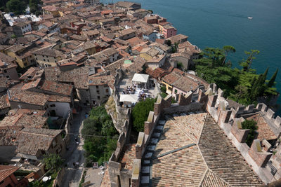 Panoramic view of malcesine Castle wedding terrace