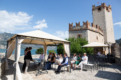The Castle of Malcesine hosts the wedding ceremony