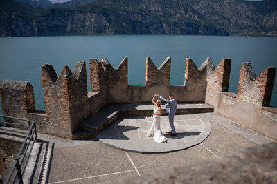 Castello di malcesine, first dance terrace