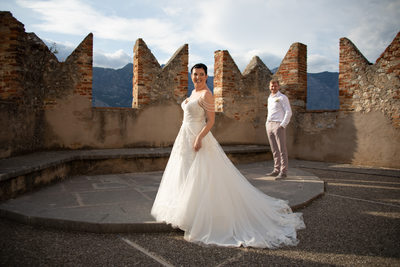 Malcesine Castle Wedding Terrace 5pm Wedding August