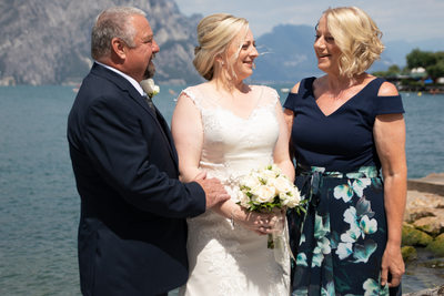 Bride's parents are getting emotional in Malcesine