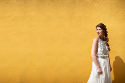 Gorgeous Gemma on the way to the wedding in Malcesine