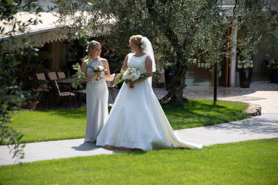 Ellie and her bridesmaid, Hotel Maximillian, Malcesine
