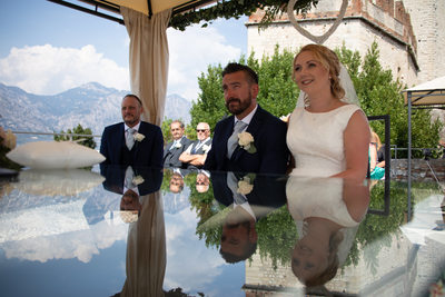 Ellie and Wayne, Malcesine Castle Wedding.