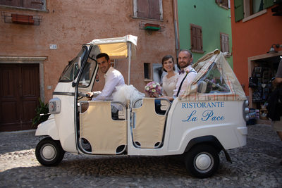 Lisa and Josh, Tuk Tuk, Lake Garda, Malcesine