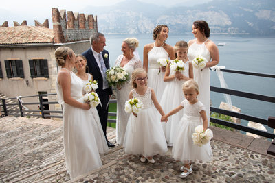 So many beauties in Malcesine Castle on Lake Garda