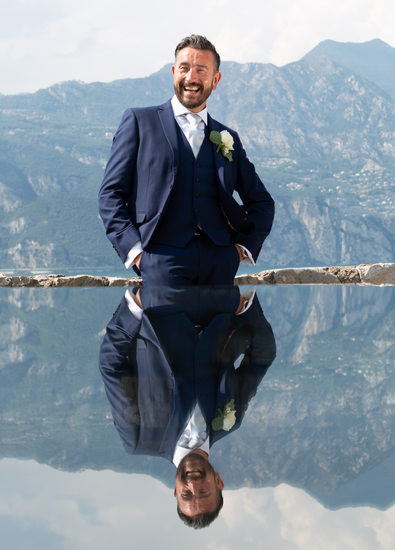 Wayne, Malcesine Castle Groom, Lake Garda.